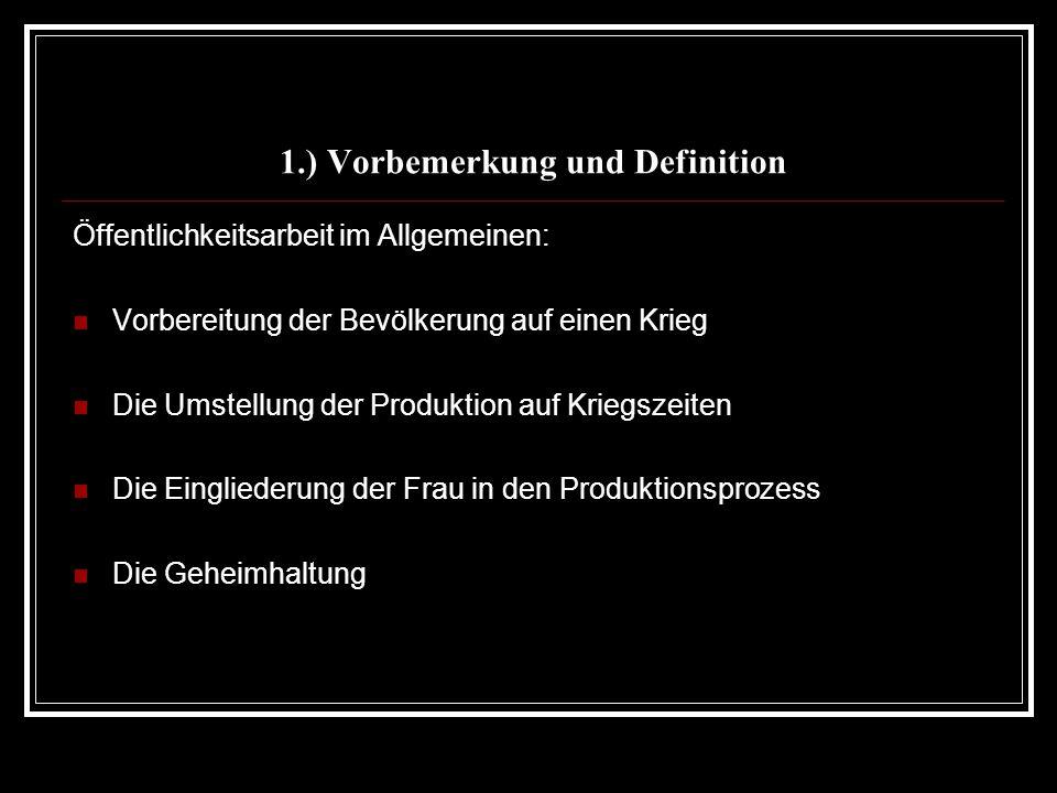 1.) Vorbemerkung und Definition