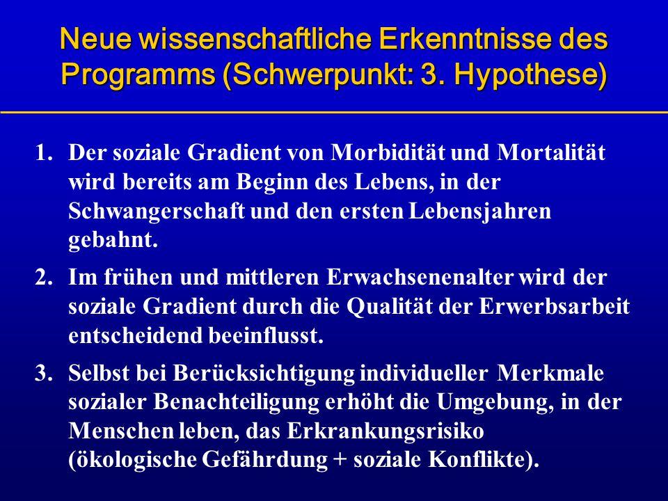 Neue wissenschaftliche Erkenntnisse des Programms (Schwerpunkt: 3