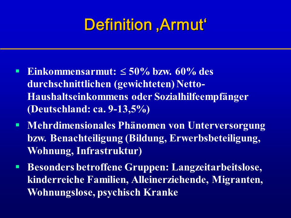 Definition 'Armut'