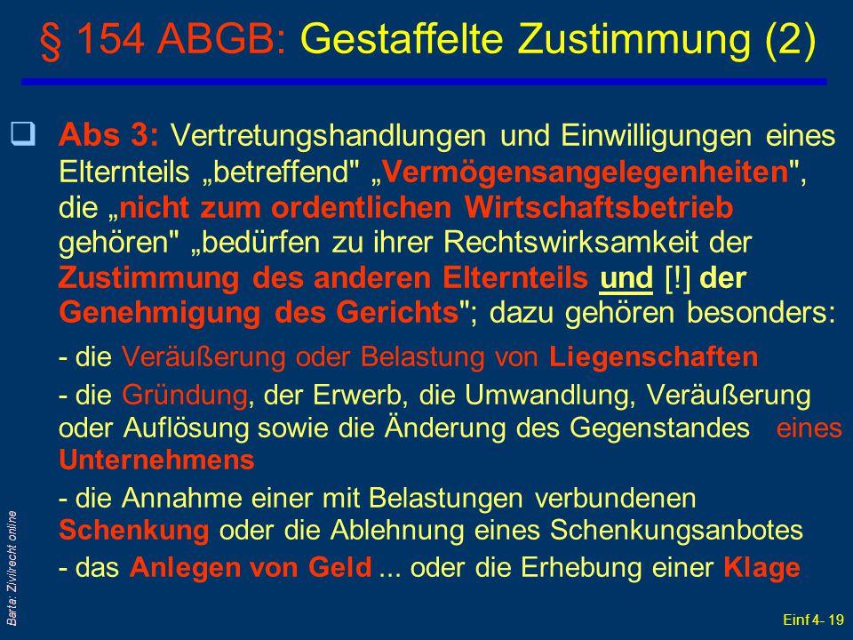 § 154 ABGB: Gestaffelte Zustimmung (2)