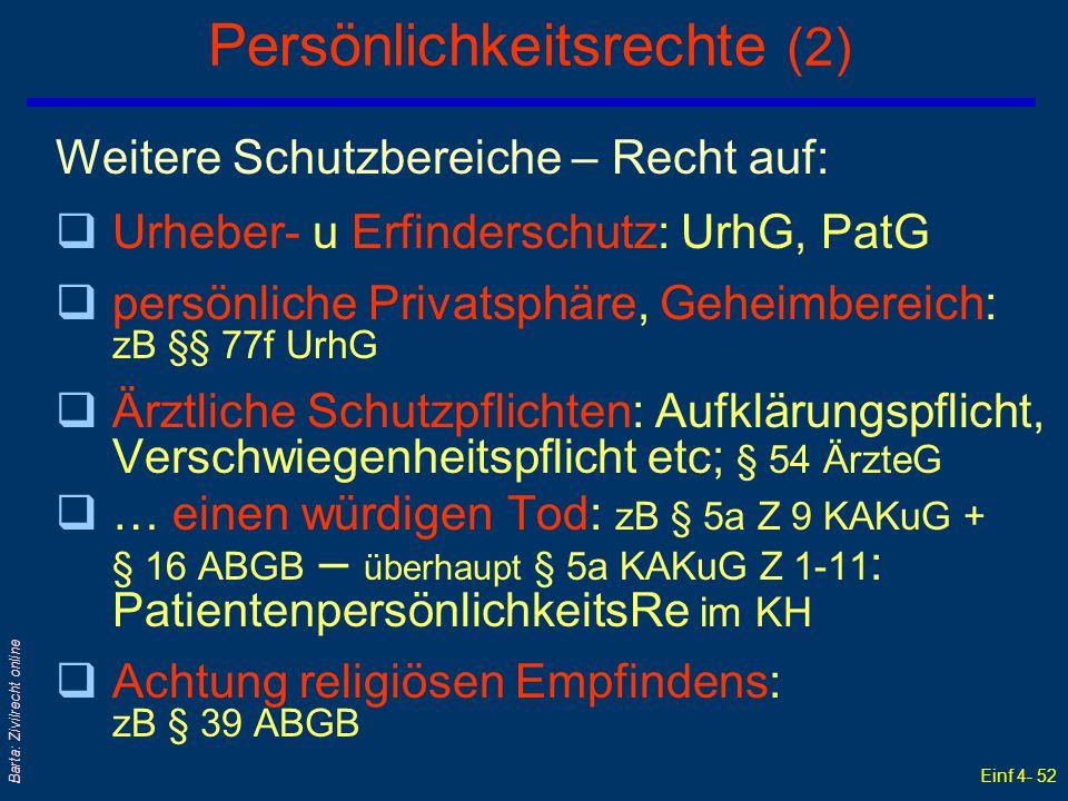 Persönlichkeitsrechte (2)