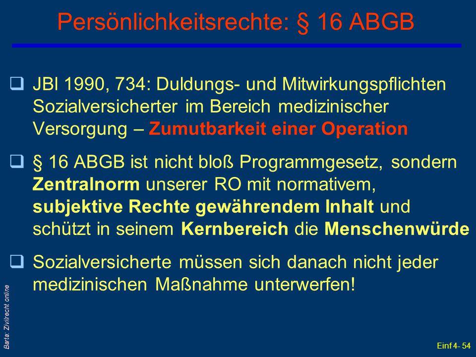 Persönlichkeitsrechte: § 16 ABGB