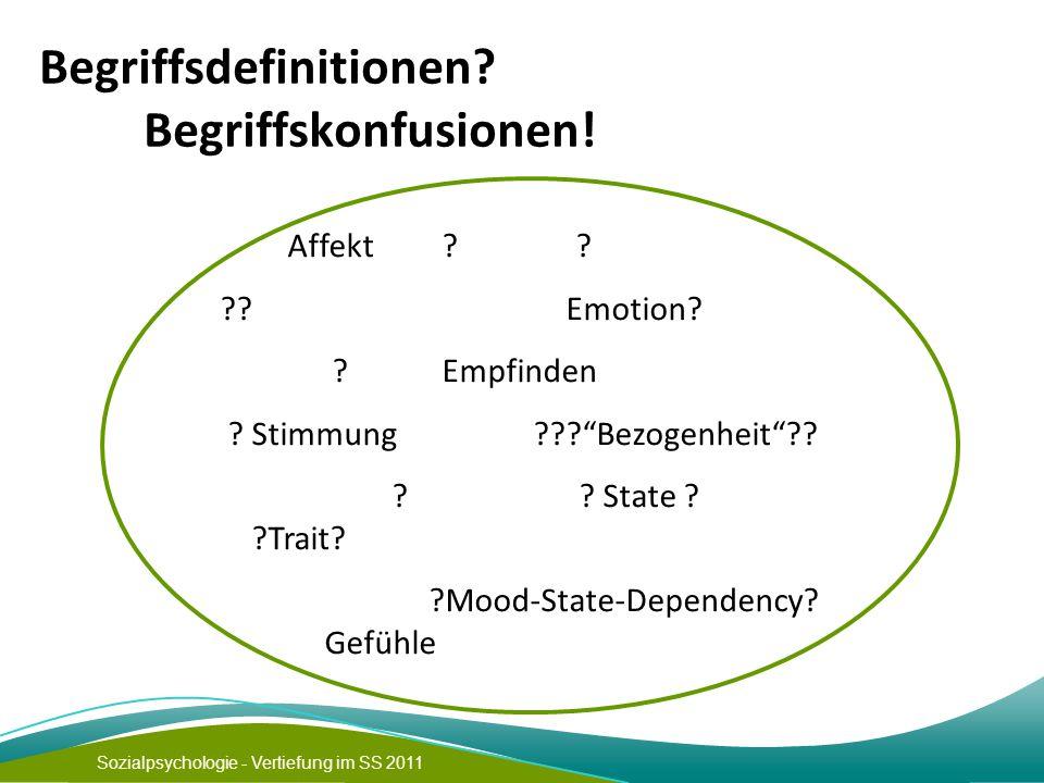 Begriffsdefinitionen Begriffskonfusionen!