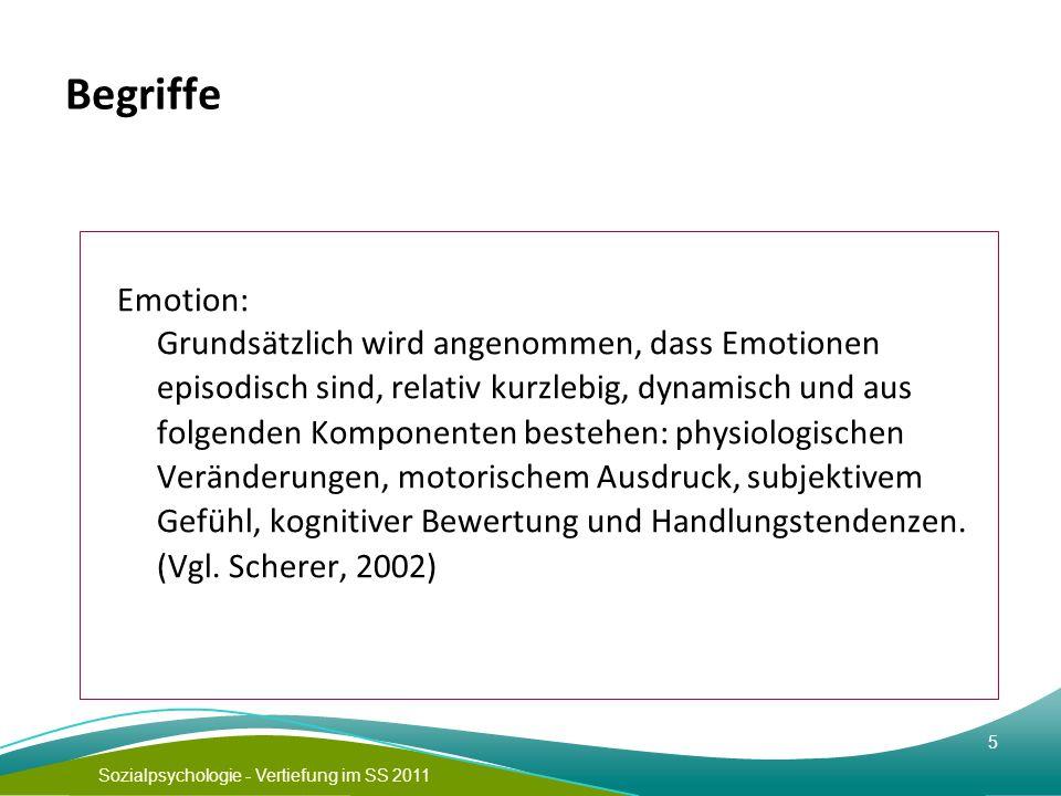 Begriffe Emotion: