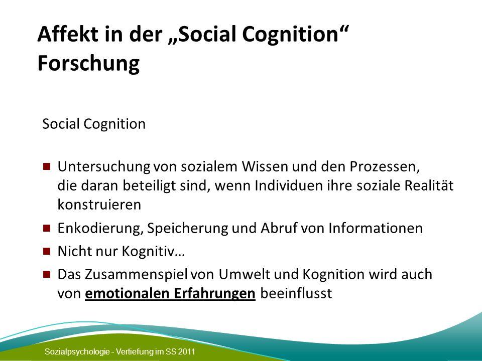 "Affekt in der ""Social Cognition Forschung"