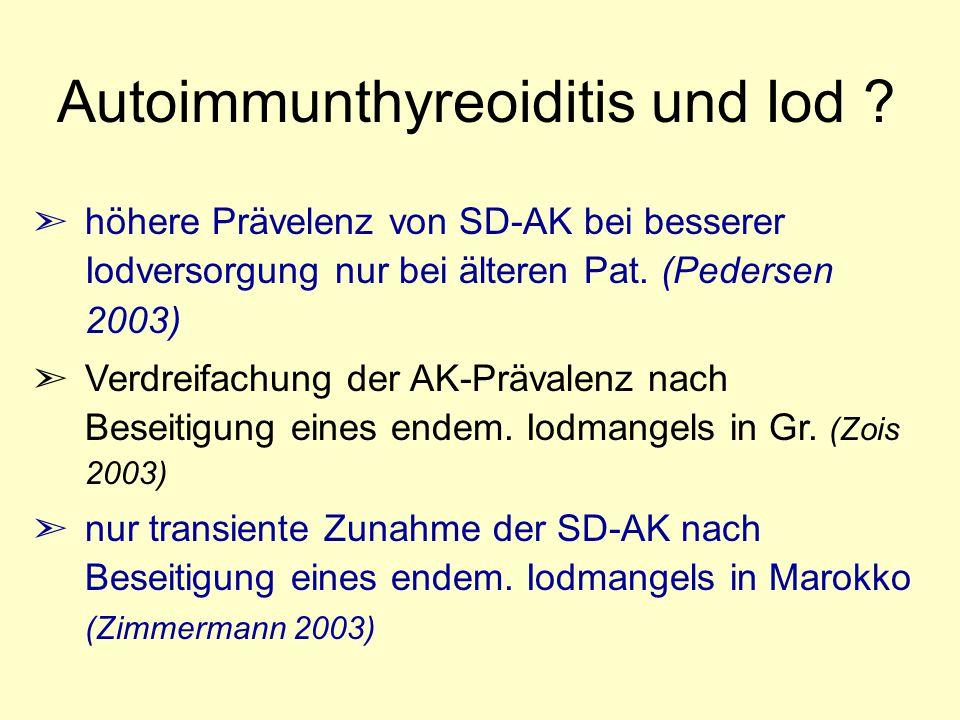 Autoimmunthyreoiditis und Iod