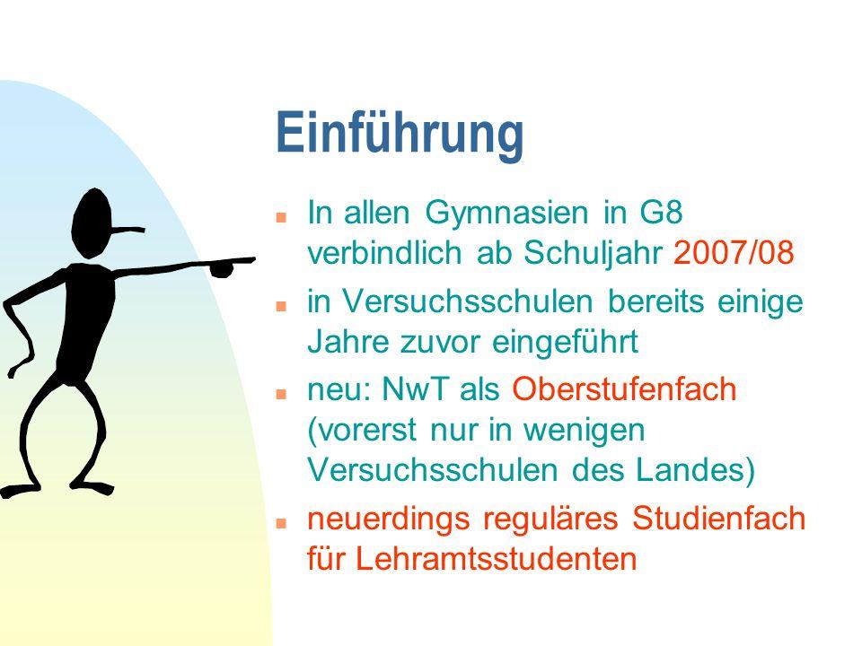 Einführung In allen Gymnasien in G8 verbindlich ab Schuljahr 2007/08