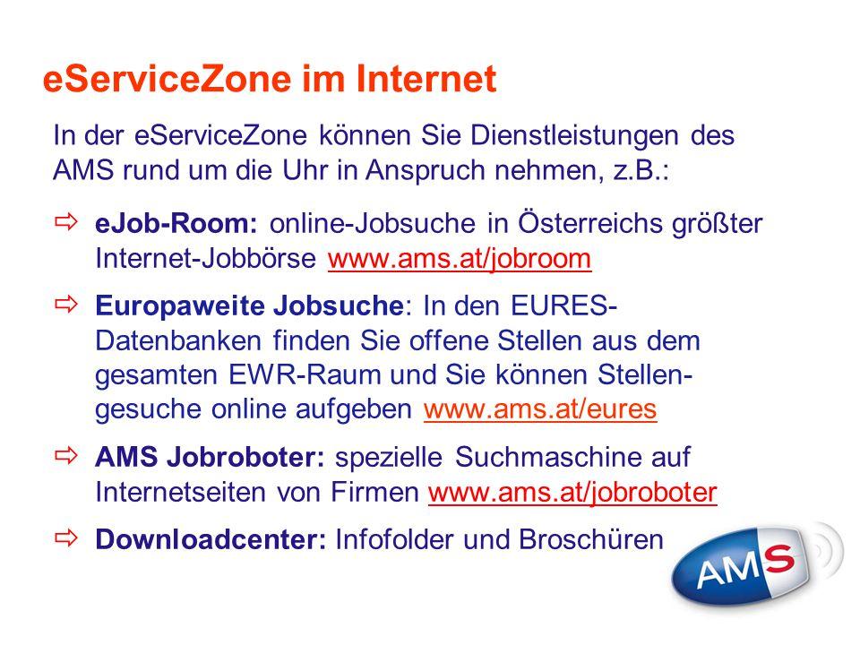 eServiceZone im Internet