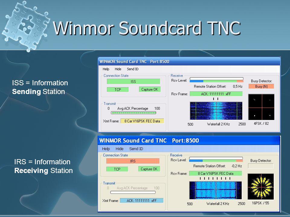 Winmor Soundcard TNC ISS = Information Sending Station