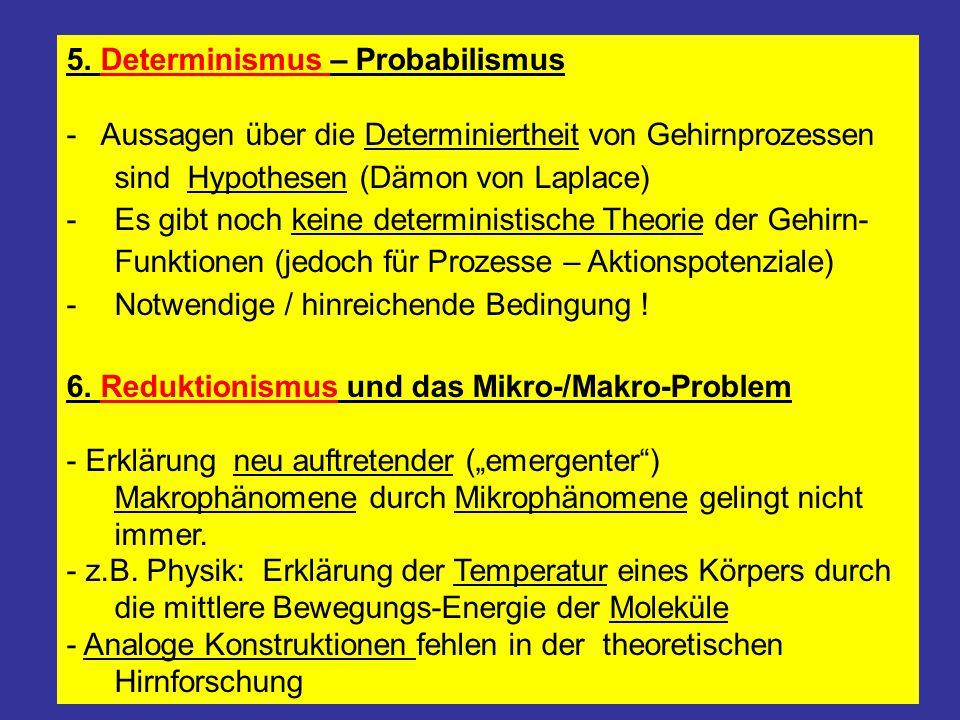 5. Determinismus – Probabilismus