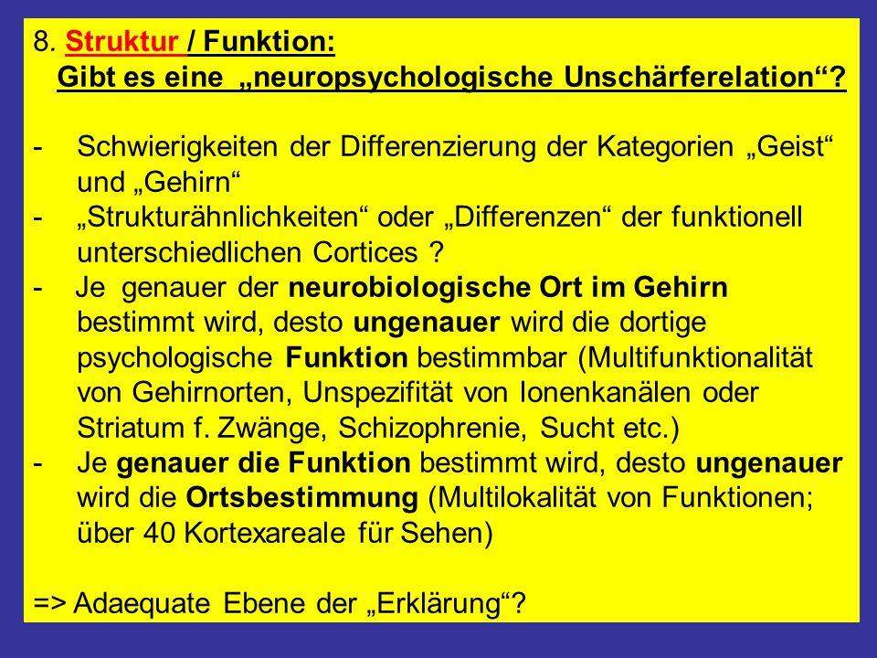 """8. Struktur / Funktion: Gibt es eine """"neuropsychologische Unschärferelation"""