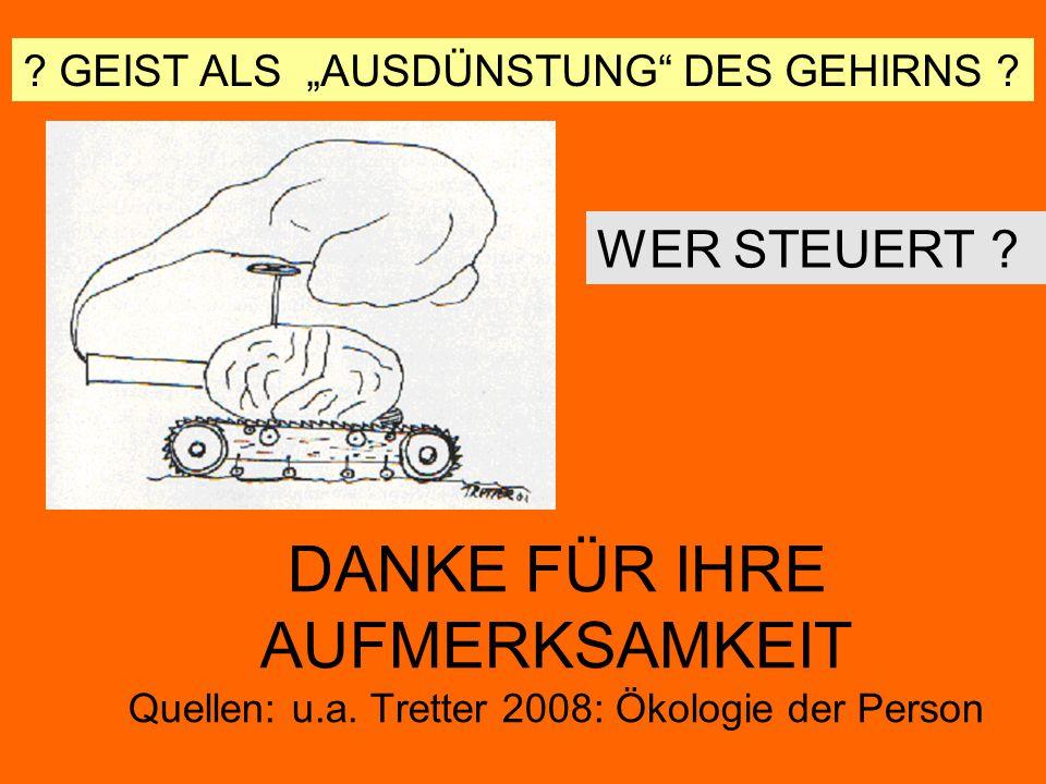 """GEIST ALS """"AUSDÜNSTUNG DES GEHIRNS"""