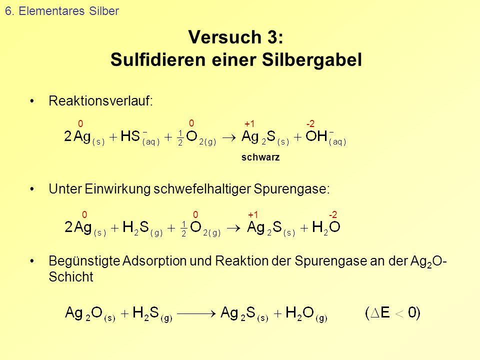 Versuch 3: Sulfidieren einer Silbergabel