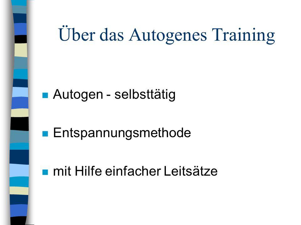 Über das Autogenes Training