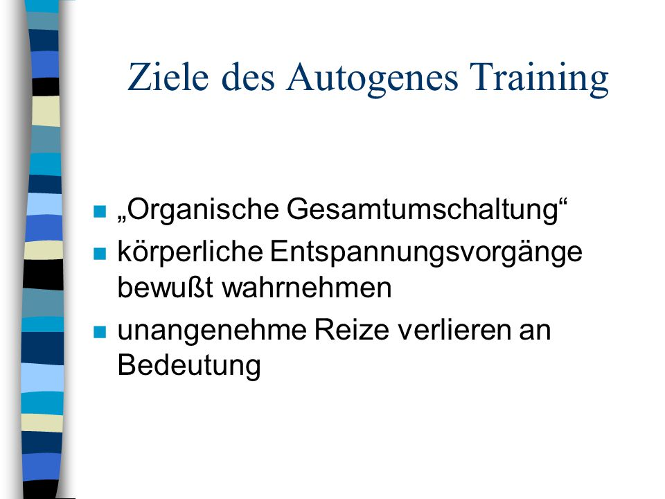 Ziele des Autogenes Training