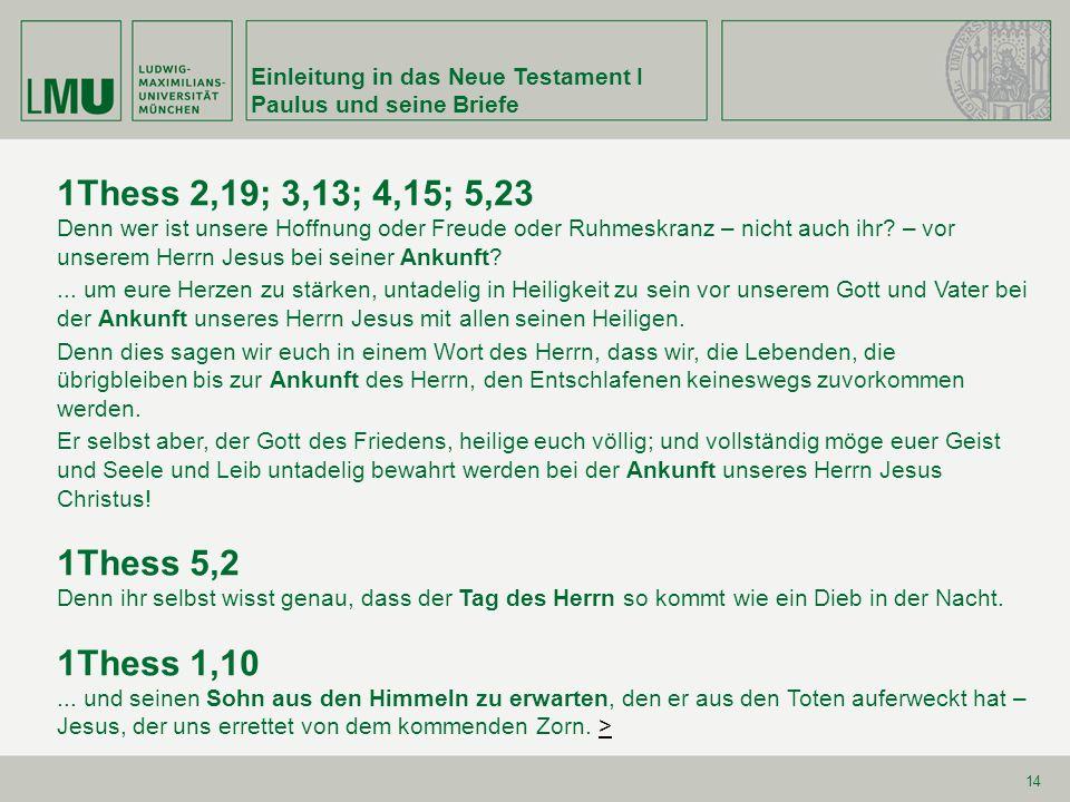 Einleitung in das Neue Testament I