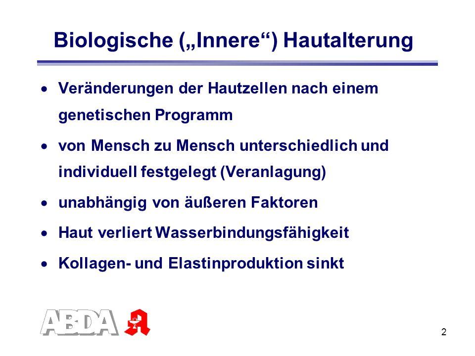 "Biologische (""Innere ) Hautalterung"