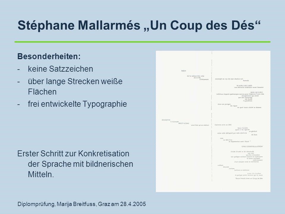 "Stéphane Mallarmés ""Un Coup des Dés"