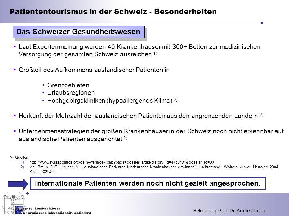 Das Schweizer Gesundheitswesen
