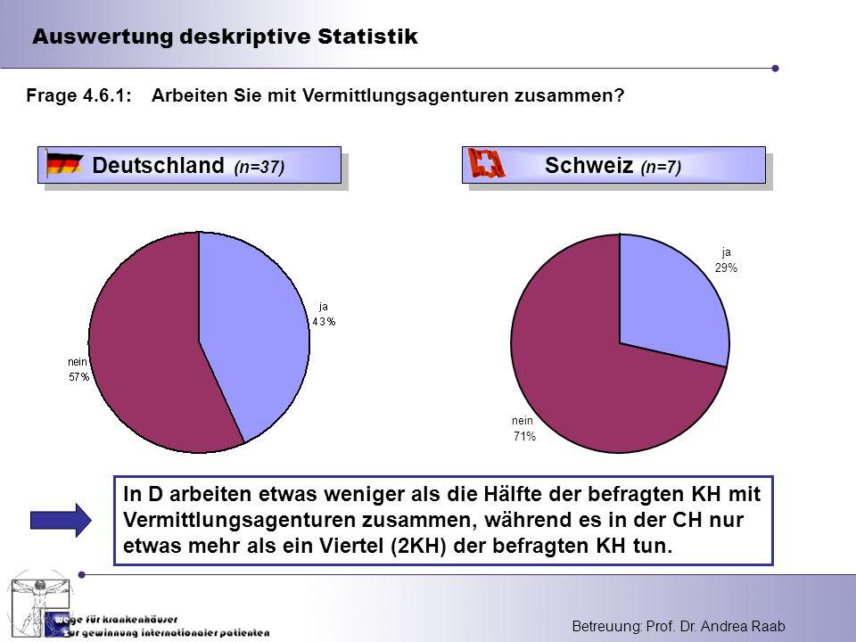 Auswertung deskriptive Statistik
