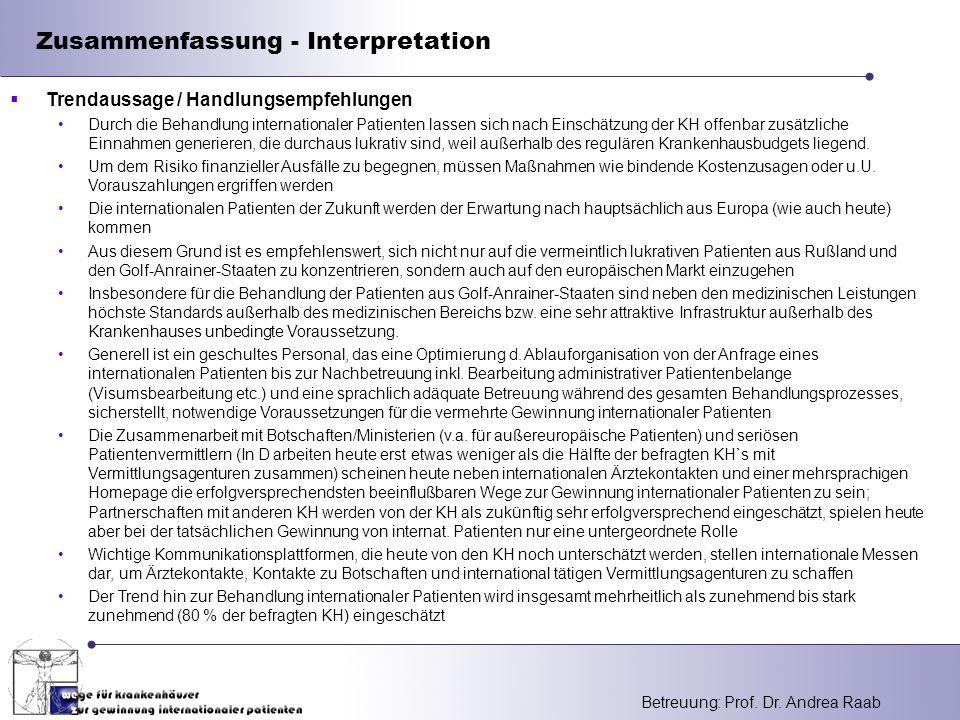Zusammenfassung - Interpretation