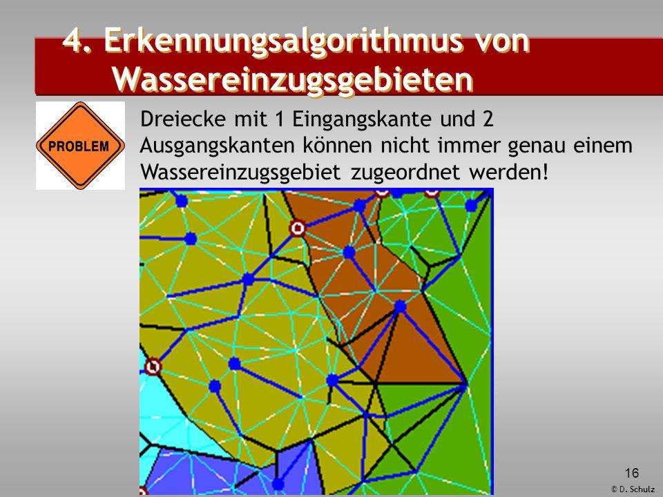 4. Erkennungsalgorithmus von Wassereinzugsgebieten