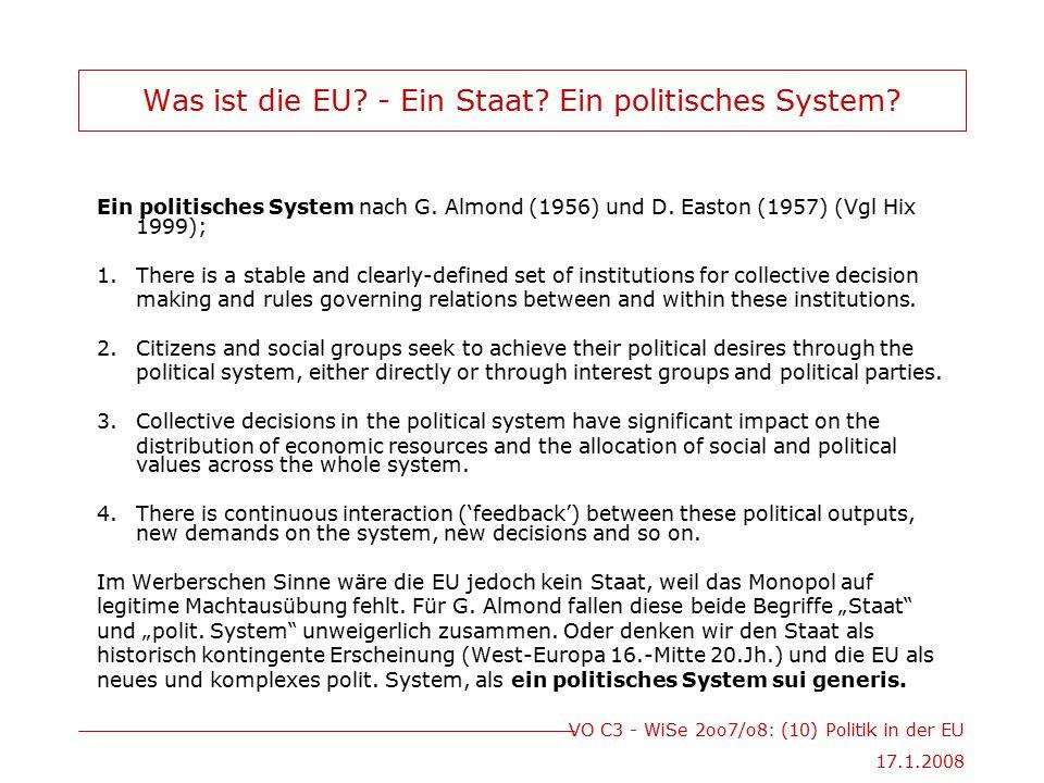 Was ist die EU - Ein Staat Ein politisches System