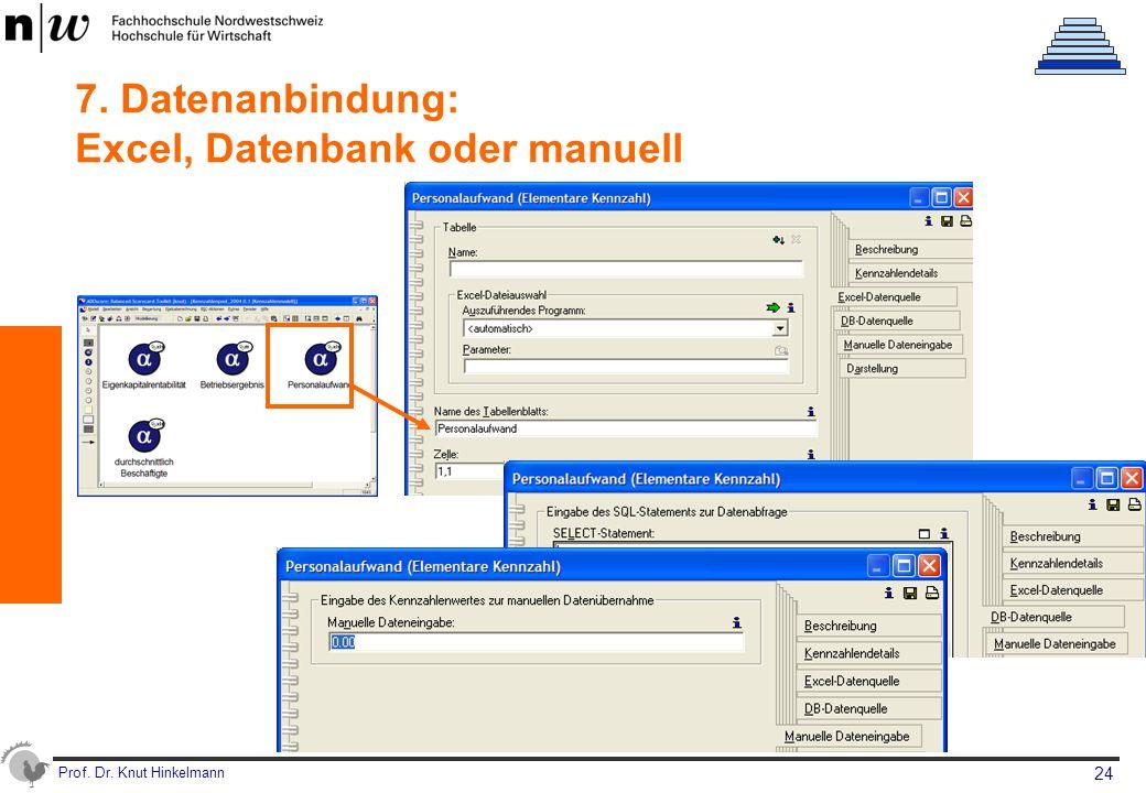 7. Datenanbindung: Excel, Datenbank oder manuell