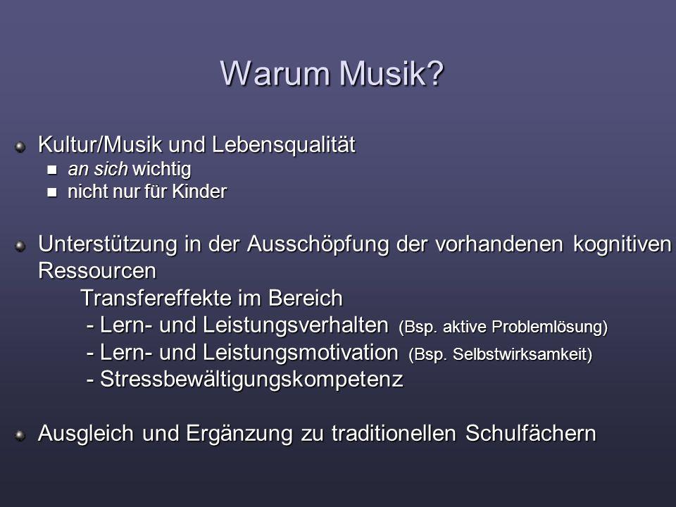 Warum Musik Kultur/Musik und Lebensqualität