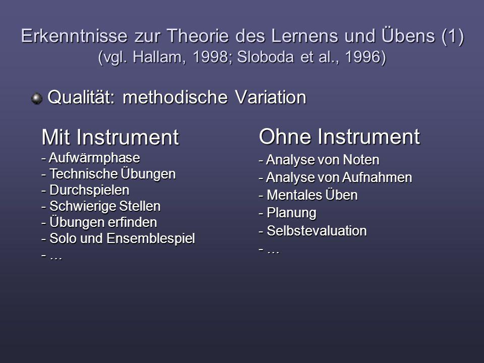 Mit Instrument Ohne Instrument