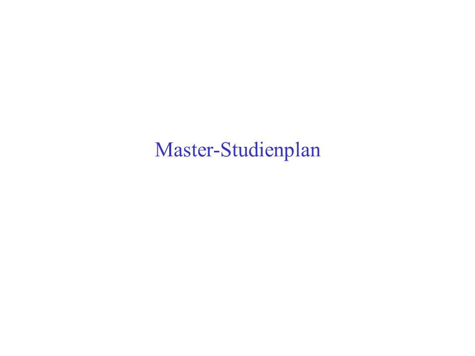 Master-Studienplan