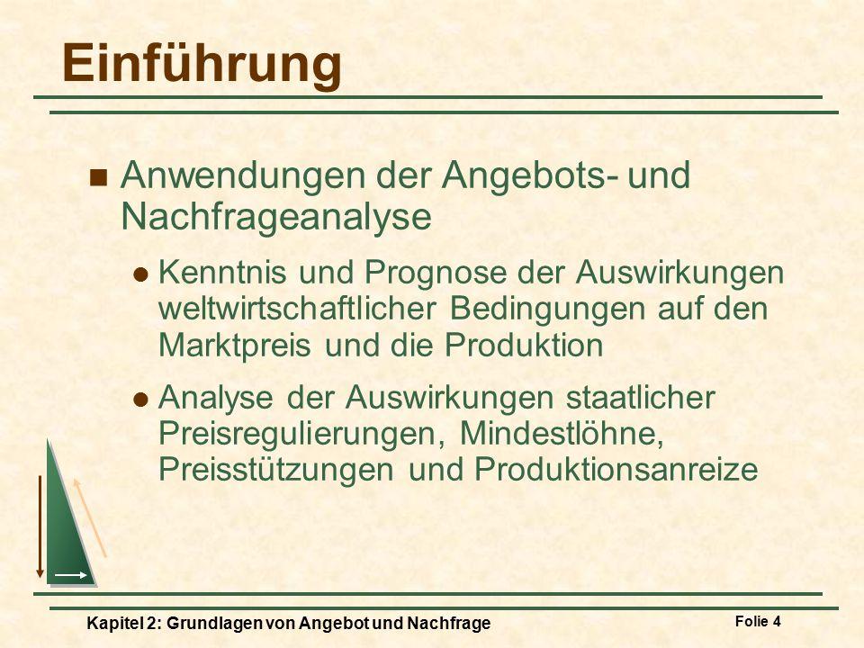 Einführung Anwendungen der Angebots- und Nachfrageanalyse