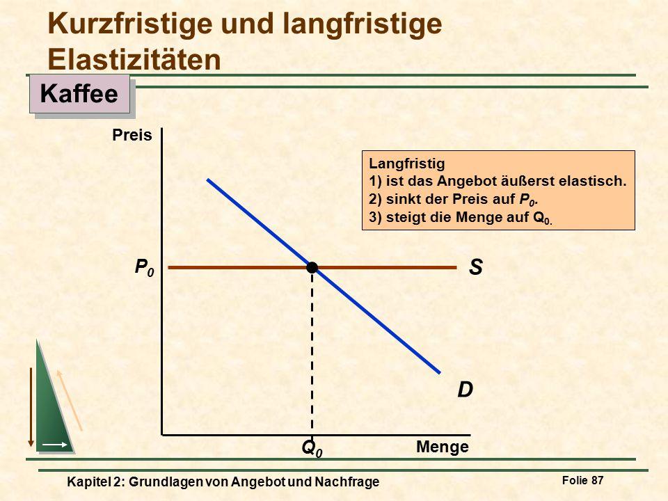 Kurzfristige und langfristige Elastizitäten