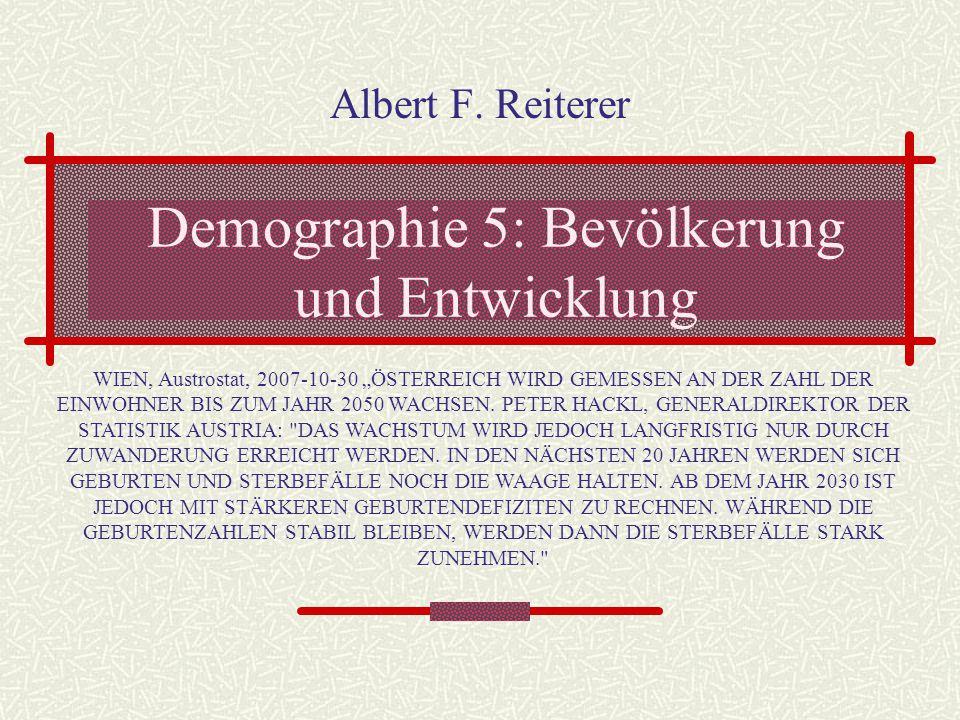 Demographie 5: Bevölkerung und Entwicklung