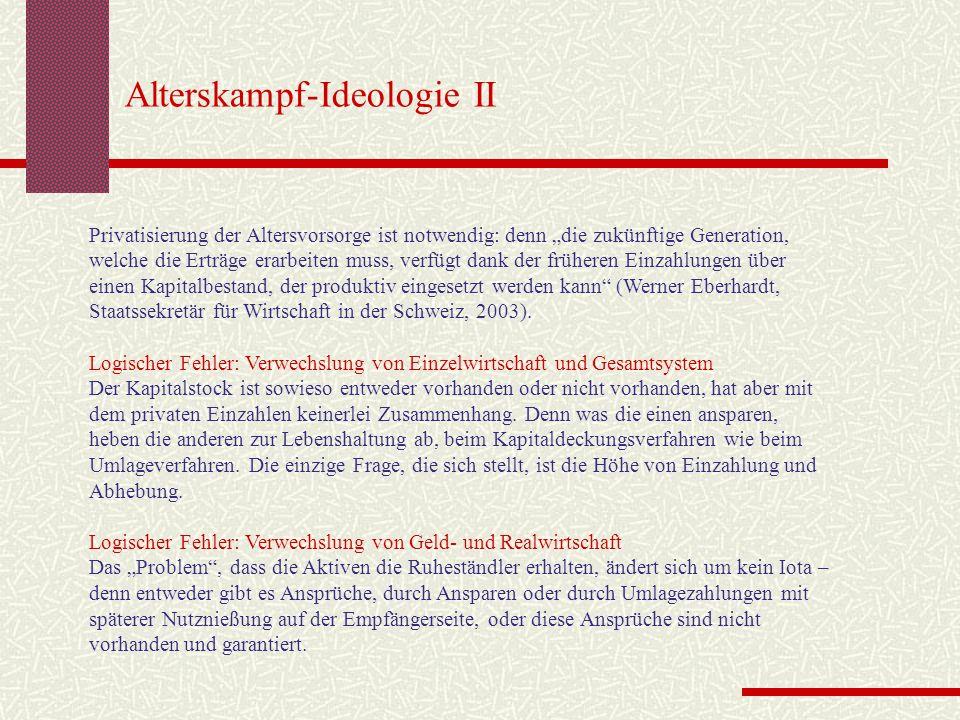 Alterskampf-Ideologie II