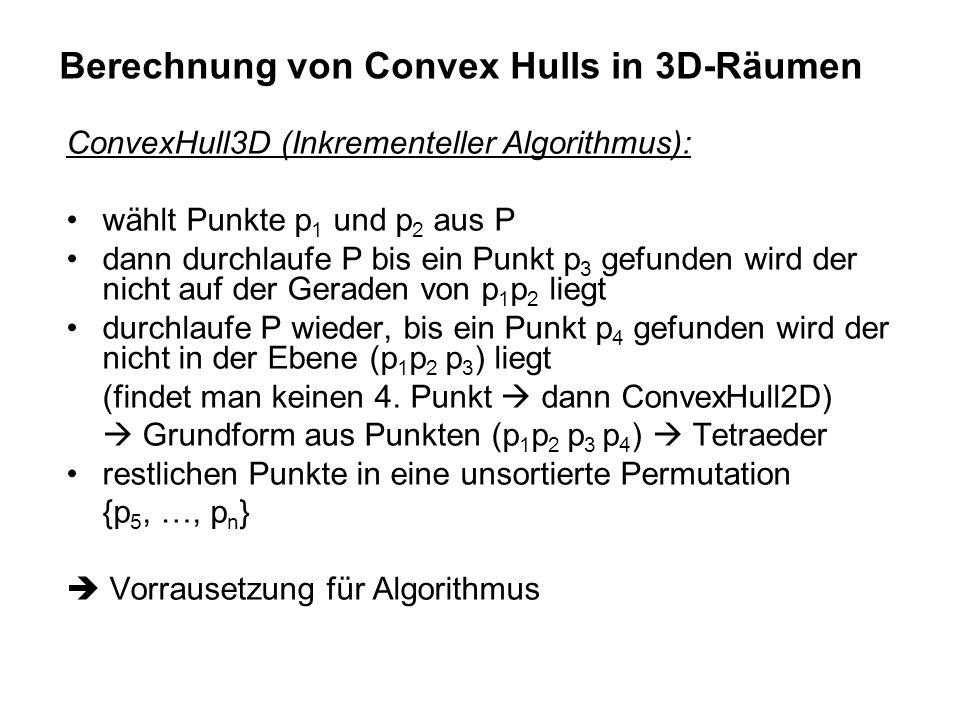 Berechnung von Convex Hulls in 3D-Räumen