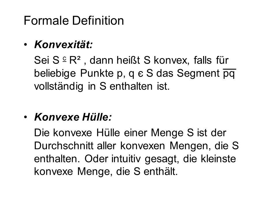 Formale Definition Konvexität: