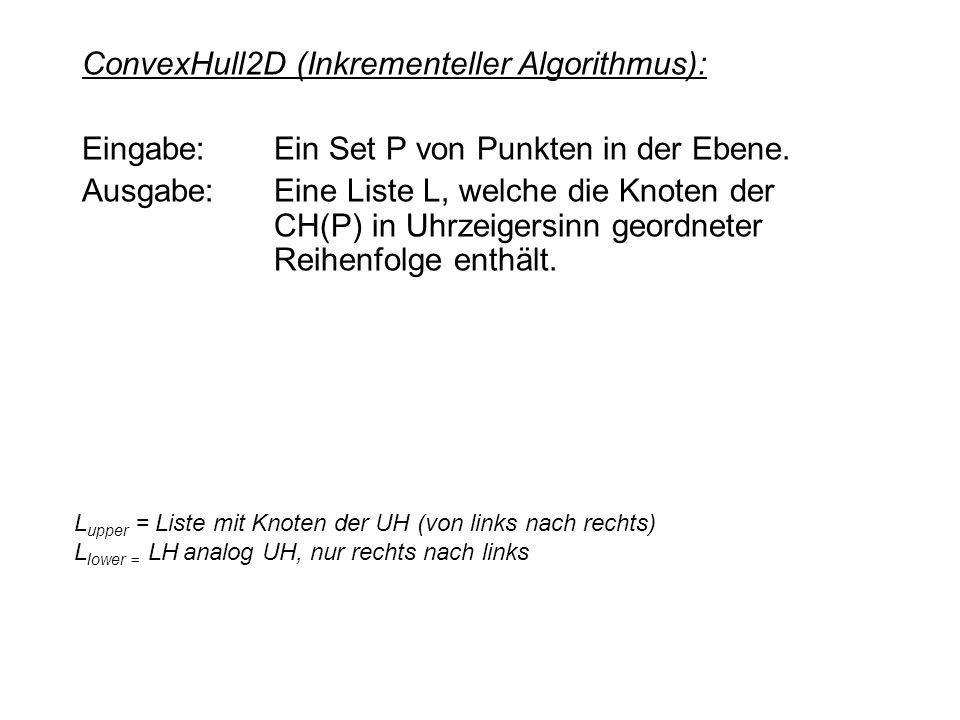 ConvexHull2D (Inkrementeller Algorithmus):
