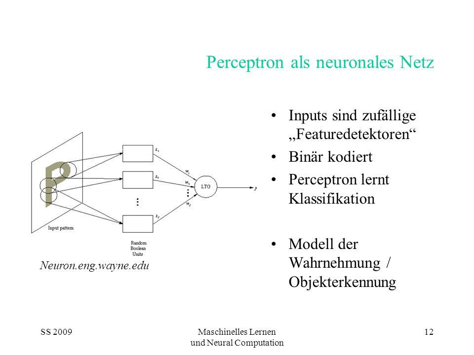 Perceptron als neuronales Netz