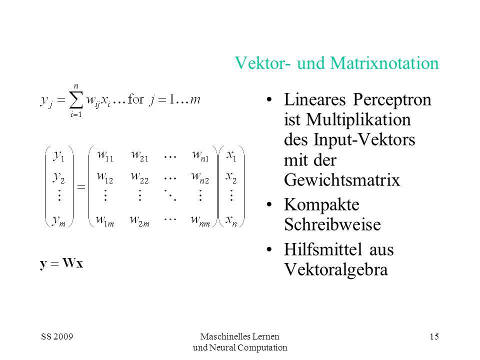 Vektor- und Matrixnotation