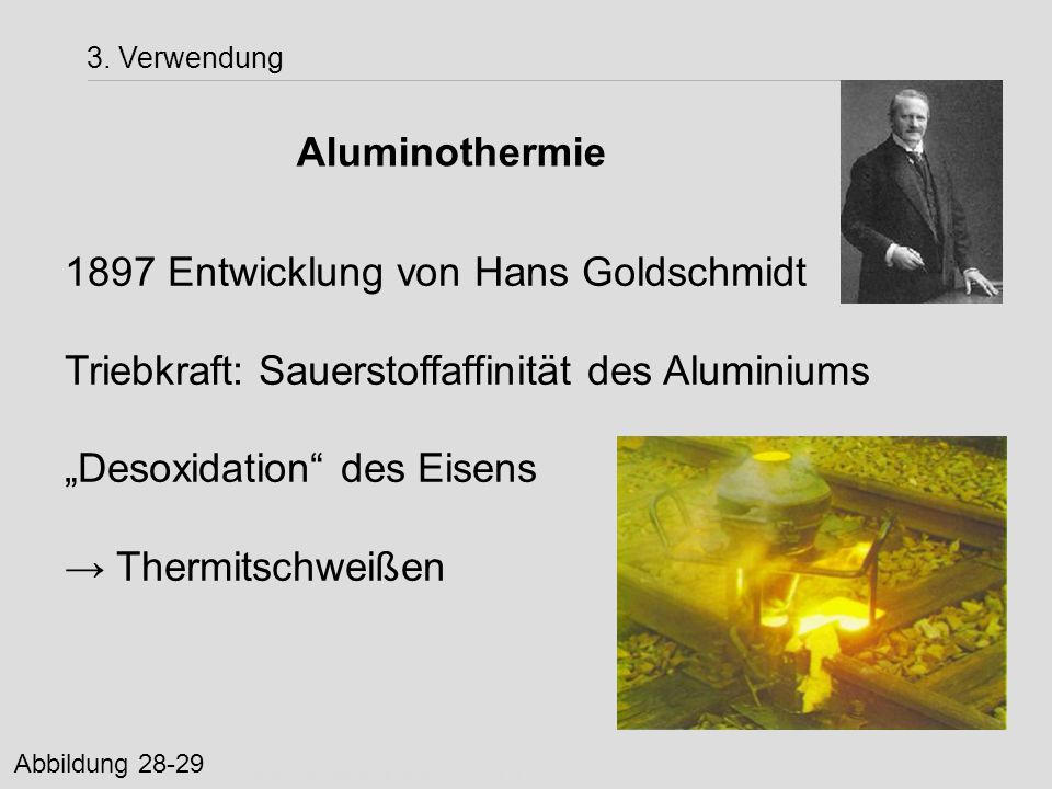 1897 Entwicklung von Hans Goldschmidt