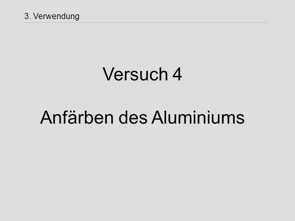 Anfärben des Aluminiums