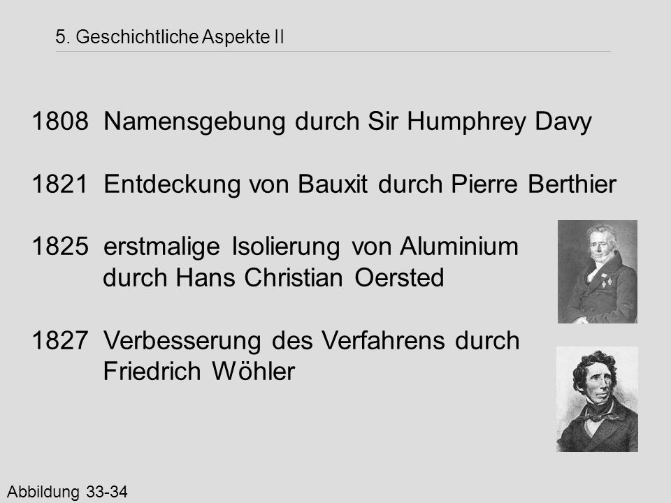 Namensgebung durch Sir Humphrey Davy