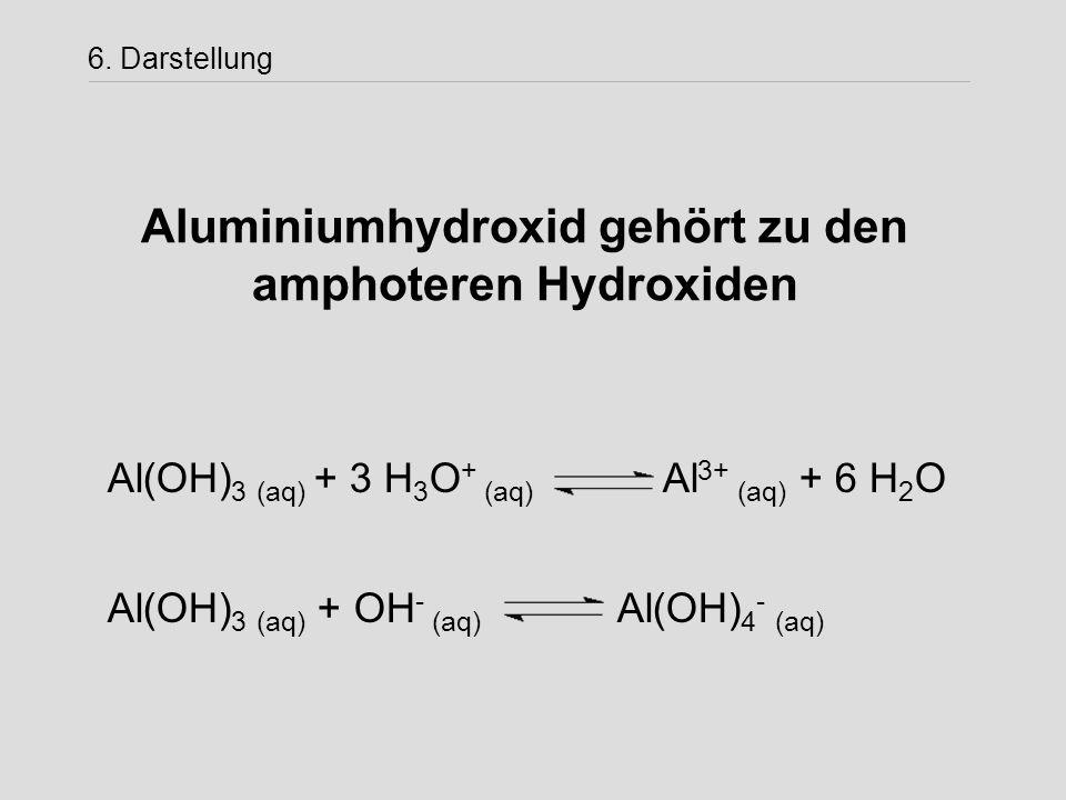 Aluminiumhydroxid gehört zu den amphoteren Hydroxiden