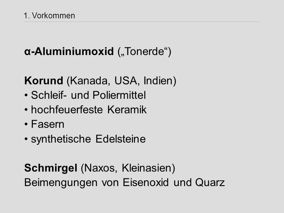 """α-Aluminiumoxid (""""Tonerde ) Korund (Kanada, USA, Indien)"""