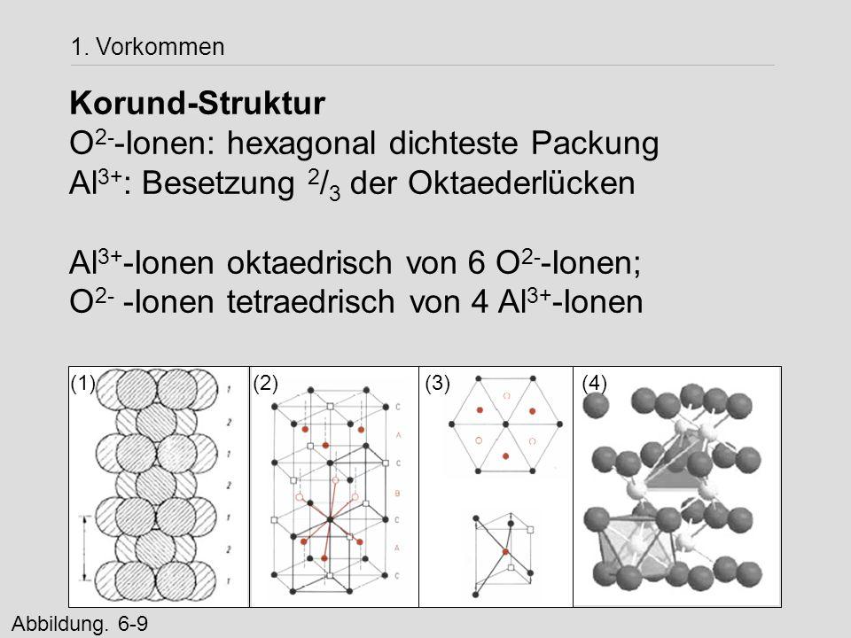 O2--Ionen: hexagonal dichteste Packung