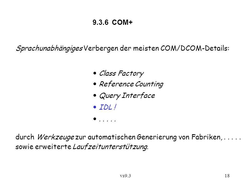Sprachunabhängiges Verbergen der meisten COM/DCOM-Details: