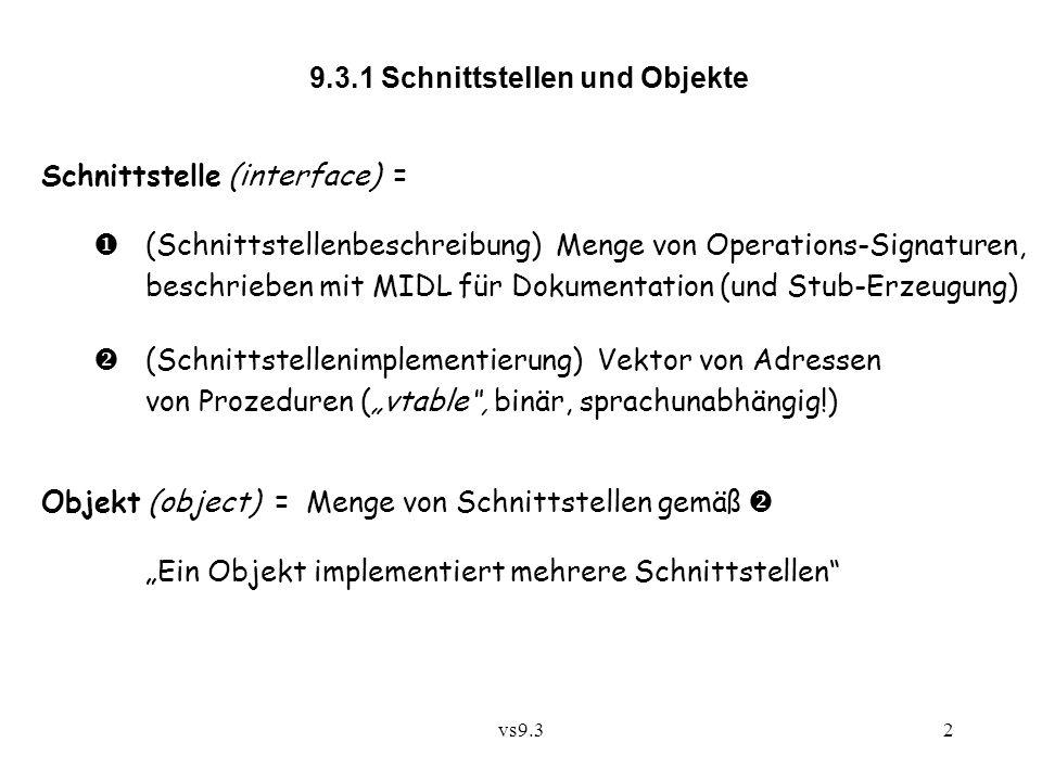 9.3.1 Schnittstellen und Objekte