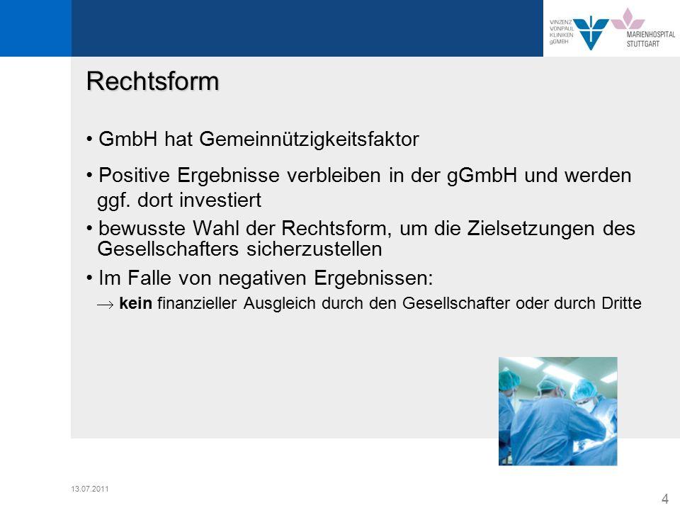 Rechtsform • GmbH hat Gemeinnützigkeitsfaktor