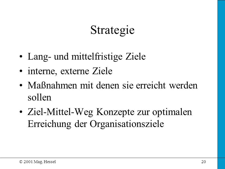 Strategie Lang- und mittelfristige Ziele interne, externe Ziele